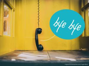 Gelbe Telefonzelle verschwindet