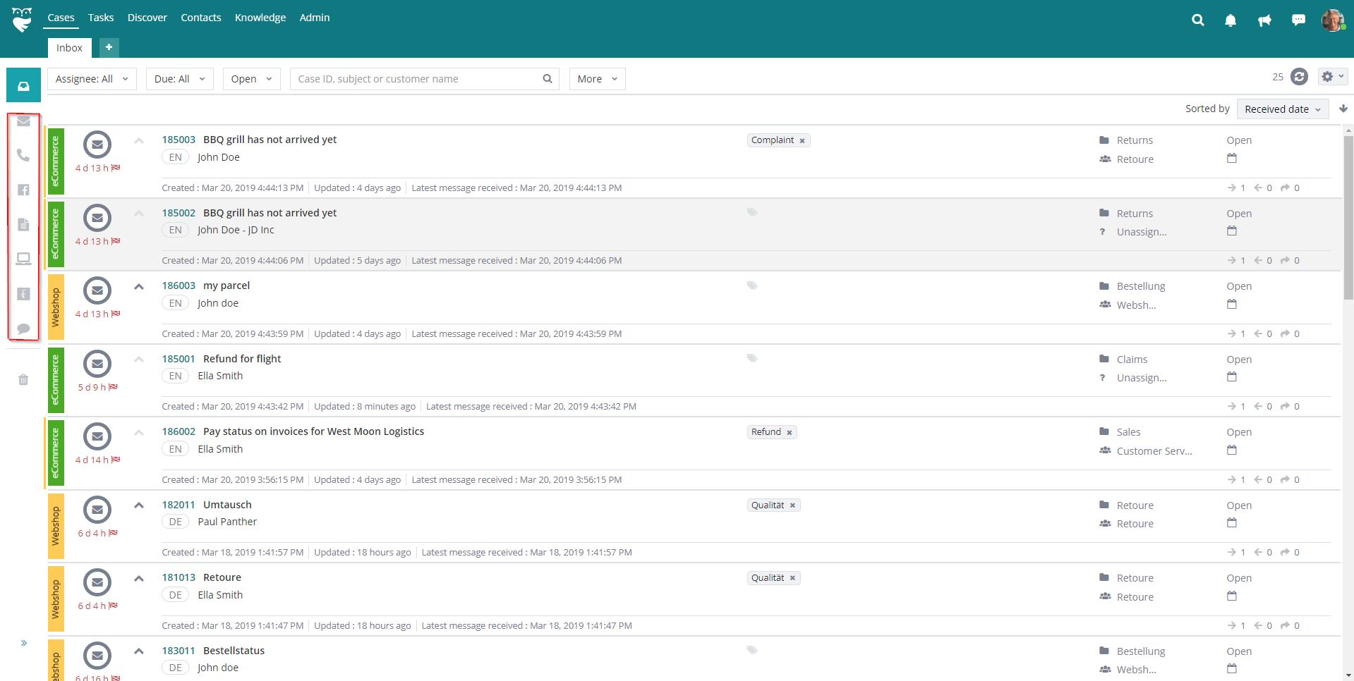 Digital Impatience Blog_ThinkOwl-Multichannel Inbox View