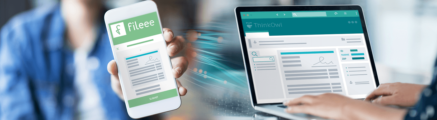 Kunden App integriert in ThinkOwl