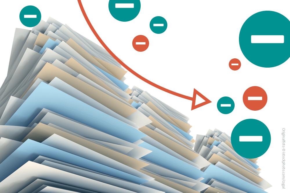 Digitalisierung von Dokumenten schreitet voran: Papierverbrauch sinkt